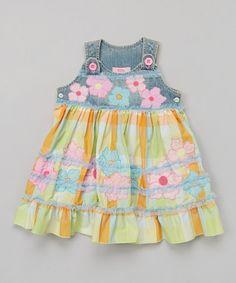 Look what I found on #zulily! Blue & Green Floral Jumper - Toddler & Girls #zulilyfinds