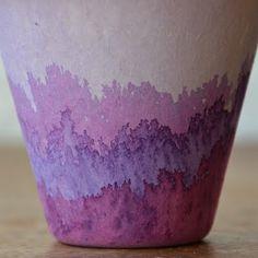 Dye Dipped Flower Pots