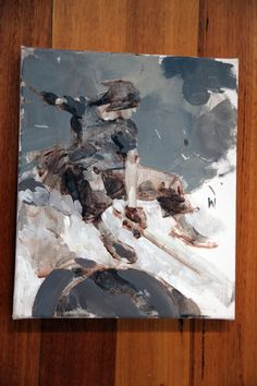 Tomorrow King painting by Ashley Wood for HK Venture