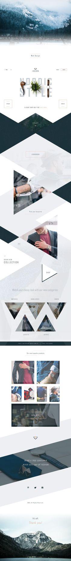 Isbjørn - Gentleman's Store on Web Design Served