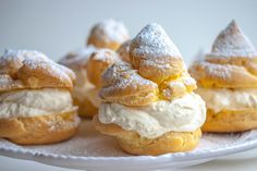 The Best Italian Cream Puffs with Vanilla Ricotta  with Recipe for Home Made Ricotta. This looks amazing!