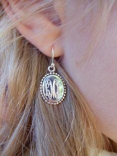 Sterling Monogrammed Earrings...Love!!