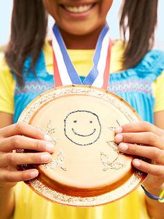"possible camp games activity idea...since all the kids are ""winners"" they can all make their own medals"