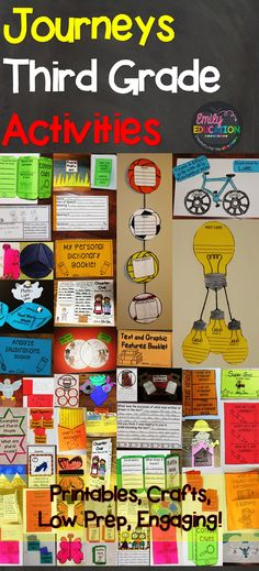 Journey Third Grade Activities! This teacher has done it all: Low Prep! Crafts, Printables. Come see what has made students and teachers fall in love with teaching Journeys!