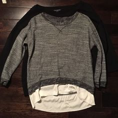 Sweaters Grey Sweater with white skirt & Black Sweater with pink writing American Eagle Outfitters Sweaters