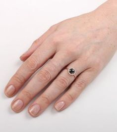 Catbird::shop by category::JEWELRY::Wedding & Engagement::Engagement Rings::Aura Ring, Black Diamond