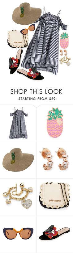 """Sheesh 😅"" by chelsofly on Polyvore featuring MSGM, Lolli Swim, Suzanne Kalan, Palm Beach Jewelry, Betsey Johnson, Marni and Valentino"