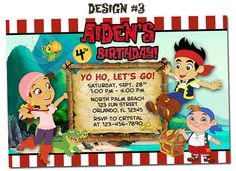 Nice free template jake the pirate birthday invitations baby jake and the neverland pirates birthday party photo by funinvitez 1299 filmwisefo