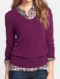 cashmere v-neck sweater  http://rstyle.me/n/sbydwpdpe