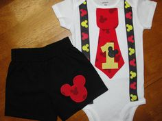 Vintage mickey mouse suspenders
