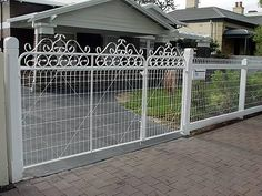 Photo of Heritage Fencing - Adelaide South Australia, Australia. Style E Gate to provide pedestrian friendly access Front Yard Fence, Fence Gate, Gate 2, Dog Proof Fence, Birdcage Planter, Wood Fence Design, Weatherboard House, Country Fences, Fence Styles