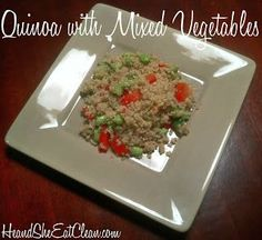 Clean Eat Recipe :: Quinoa with Mixed Vegetables ~ He and She Eat Clean