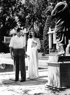 Katharine Hepburn and George Cukor on the set of 'The Philadelphia Story'