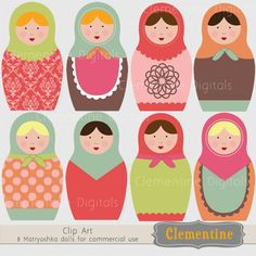 russian doll clipart!
