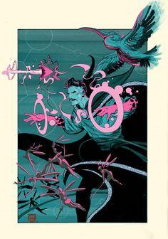 Doctor Strange by Stephen Green * Comic Book Characters, Marvel Characters, Comic Books Art, Comic Art, Marvel Universe, Doc Strange, Marvel Comics Art, Marvel 3, Weird Art
