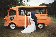 Creative ideas came very easily for TV presenter Bex and business consultant Tom - their relaxed, festival-style wedding in the countryside was filled to the brim with DIY and personal touches and nods to their favourite movies. #diy #wedding #festival #rustic #food #truck Maryanne Weddings  REVELRY EVENTS - WEDDING PLANNER LONDON