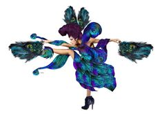 """Peacock dance"" by susonwil83 ❤ liked on Polyvore featuring sanat"