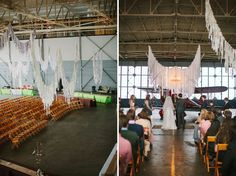 Whimsical Wedding in an Airplane Hanger: Alex + Keith; I absolutely love this, though it's not really us; I kind of wish it were.
