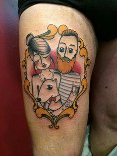 "Tattoo old school ""Family portrait"""