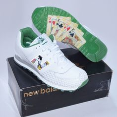 """NWT NEW BALANCE LIMITED EDITION 574 """"LAS VEGAS"""" SHOES SIZE 13 KING CARDS WHITE"""