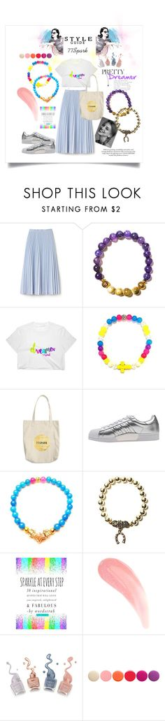 """""""Spiritual Junkie"""" by shop77spark ❤ liked on Polyvore featuring Lacoste, adidas Originals and Deborah Lippmann"""