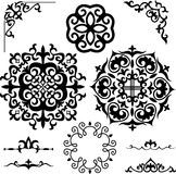 Set Kazakh Asian ornaments and patterns Stock Photos