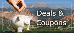 Coupons for activities, lodging, and food in the Colorado Springs area