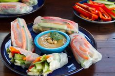 Veggie Summer Rolls with Spicy Peanut Lime Sauce: Two Ways — Oh She Glows  Best gluten free peanut sauce!