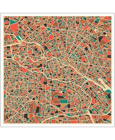 Berlin VON Jazzberry Blue now on JUNIQE!  Habe meinen block gefunden. ;)