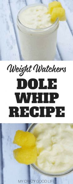 This delicious dole whip Weight Watchers recipe is fantastic. It's creamy and full of flavor. It's the perfect indulgent treat that you can blend up in no time. #weightwatchers #smartpoints #recipes via @bludlum
