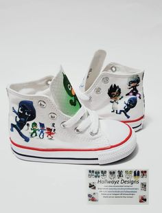 a295a90e31346d PJ Masks shoes Custom Converse Catboy Gekko Owelette King Birthday