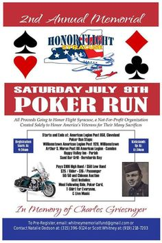 Cleveland, NY - July 9, 2016: Whitney Memorial Fund Poker Run. Raising money for Honor Flight Syracuse - a not for profit that takes our Veterans free of charge to see their memorials in Washington, DC twice a year.