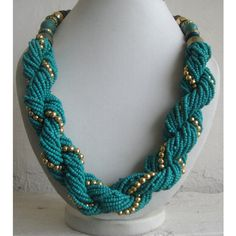 Handmade Jewelry/Turquoise Green Necklace/Statement by FootSoles, $28.50