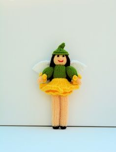 Daffodil Fairy Doll - Knitting Pattern - PDF E-mail £2.60