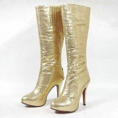 Christian Louboutin...gold boots