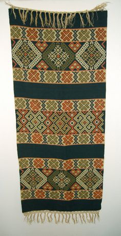 Vintage Southwest Loom Woven Bed Scarf / Table Runner  by GOLDIEPROPER, $44.00