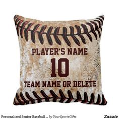 Shop Personalized Senior Baseball Player Gift Ideas Throw Pillow created by YourSportsGifts. Personalize it with photos & text or purchase as is! Gifts For Baseball Players, Team Gifts, Baseball Teams, Baseball Mom, Baseball Sayings, Baseball Videos, Baseball Pictures, Sports Gifts, Baseball Crafts