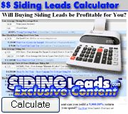 siding leads, vinyl siding leads - Siding Leads Profitability Calculator