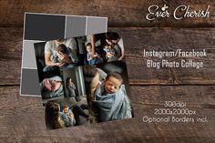 7-Rectangle Photo Digital Collage Facebook Instagram Pinterest #ad #creativemarket
