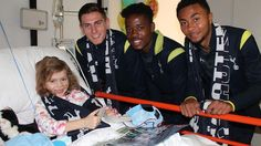 It's Sydney FC v Spurs tonight – but yesterday Luke McGee, Josh Onomah & Grant Ward took time out (with other players) to visit Lucia and other kids at Sydney Children's Hospital. 30.05.15