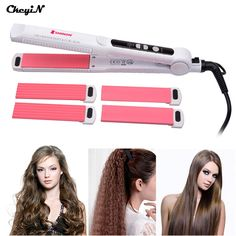 3 in 1 Hair Curler Rollers Straightener Iron Interchangeable Hair Curling Iron Hair Straightening Corrugated Iron Styling Tool #>=#>=#>=#>=#> Click on the pin to check out discount price, color, size, shipping, etc. Save and like it!