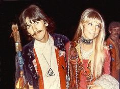 George Harrison and Pattie Boyd.