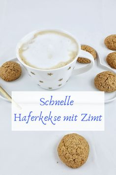 Schnelle Haferkekse mit Zimt Simple recipe for oatmeal cookies with cinnamon. Perfect for small hands. Crunchy and delicious oat cookies. Made quickly with and without the Thermomix. Oatmeal Chocolate Chip Cookies, Oatmeal Cookies, Cinnamon Cookies, Biscuits, Oatmeal Cream Pies, Pumpkin Oatmeal, Oatmeal Cookie Recipes, Biscuit Recipe, Food Menu
