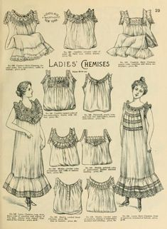 1898 Ladies' Chemises, H. O'Neill & Co Spring & summer fashion catalogue.