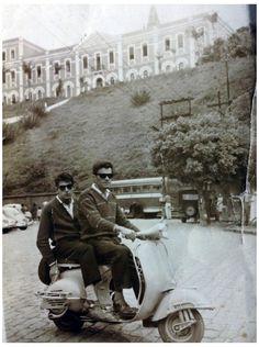 Vespas na Estrada: José Wilson de Souza - 1960-Pirapora do Bom Jesus-SP Zé Periquito na garupa e Alcides Massucato pilotando.