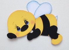 Lazy Bee Insect Animal Premade Paper Piecing 3D Die Cut My Tear Bears Kira