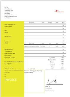Create 100's of invoices & receipts Free With Javidoc  Takes only 2 minutes. Create your invoice or receipt then send or receive PDF invoices by email  or anyway you like. Investment Advice, London City, Cryptocurrency, Create Yourself, Finance, Investing, Pdf, Coding, The Unit
