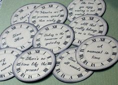 TIME PHRASES, clock face - Paper Embellishments