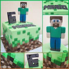 Minecraft Birthday Party, Minecraft Cake, 9th Birthday, Birthday Cakes, Birthday Parties, Cakes For Boys, Armin, Petra, Cake Ideas
