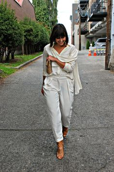 Blogger Not Billionaire: All White Streetstyle Outfit